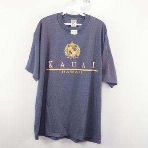 Vtg 80s New Mens XL Kauai Hawaii Spell Out T Shirt